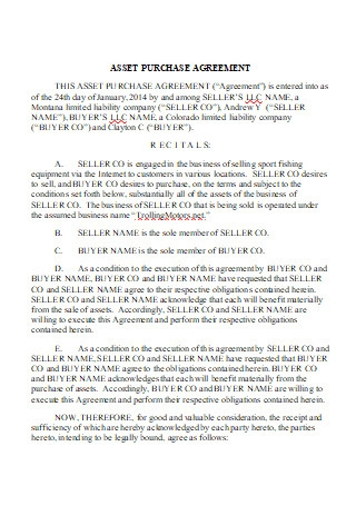 Draft Asset Purchase Agreement