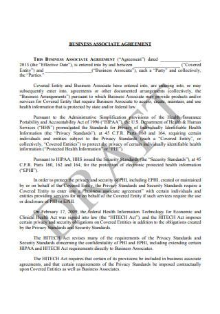 Draft Business Associate Agreement