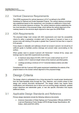 Draft Feasibility Report