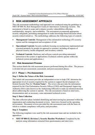 Draft Risk Assessment Report