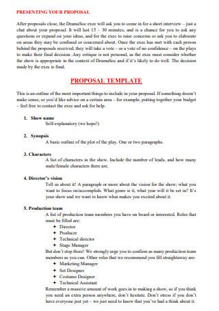 Drama Proposal in PDF