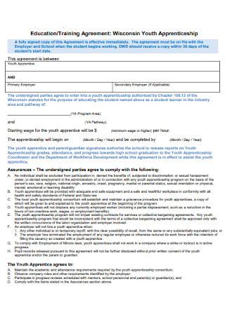 Education Training Agreement