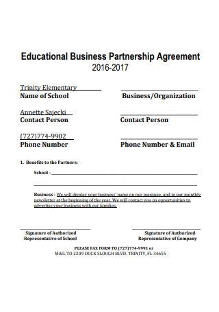 Educational Business Partnership Agreement