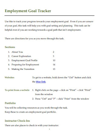 Employment Goal Tracker