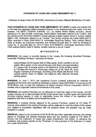 Extension of Lease Amendment