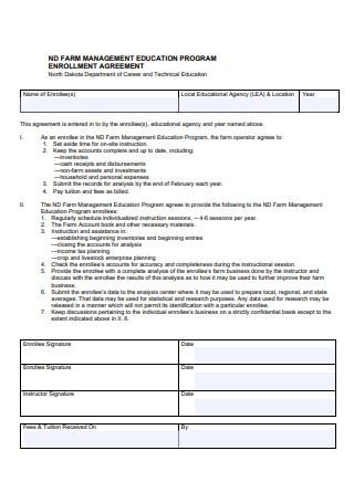 Farm Management Enrollment Agreement