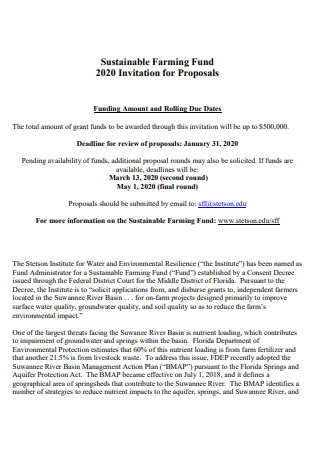 Farming Fund Proposal