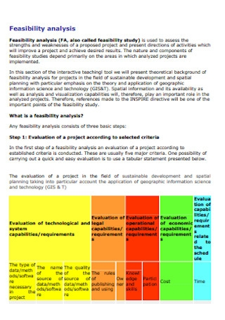 Feasibility Analysis Format