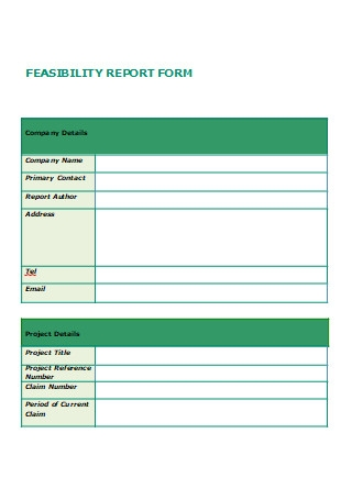 Feasibility Report Form