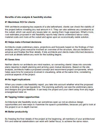 Feasibility Studies Analysis