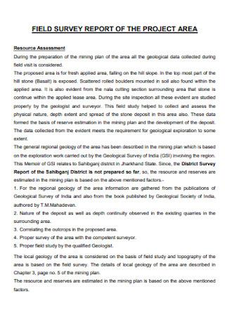 Field Survey Report