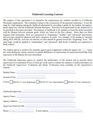 Fieldwork Learning Contract