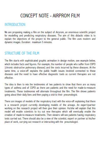 Film Concept Note
