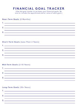 Financial Goal Register