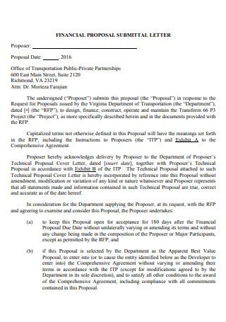 Financial Proposal Letter