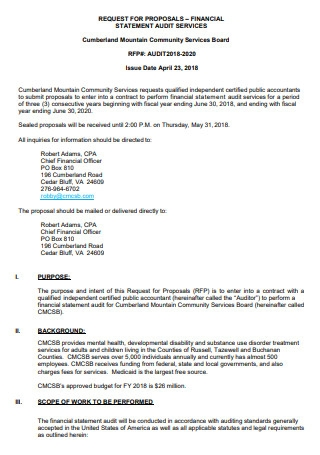 Financial Statement Audit Services Proposal