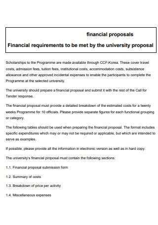 Financial University Proposal