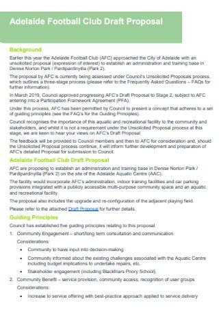 Football Club Proposal