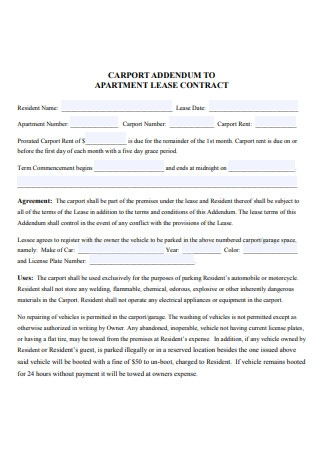 Formal Apartment Lease Contract
