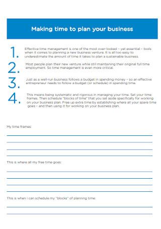 Formal Business Plan Workbook