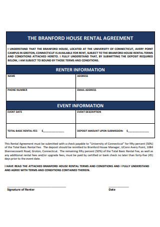 Formal House Rental Agreement