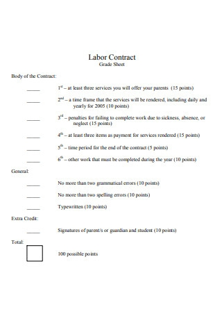 Formal Labor Contract