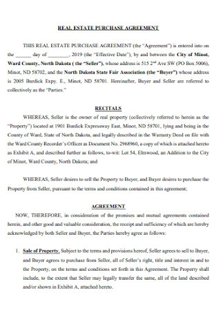 Formal Real Estate Purchase Agreement