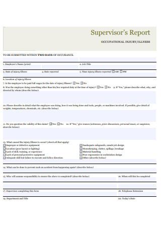 Formal Supervisor Report