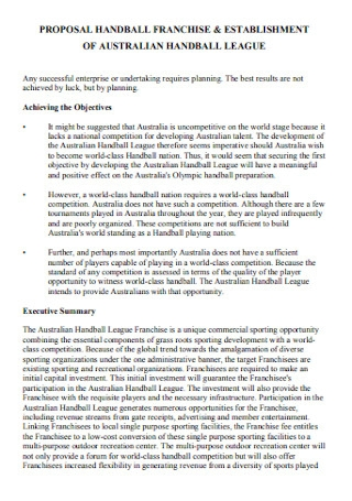 Franchise Handball Proposal