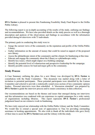 Fundraising Feasibility Study Final Report