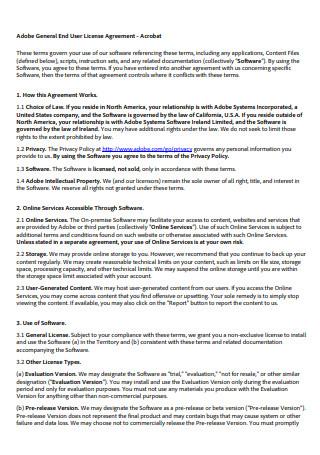 General End User License Agreement