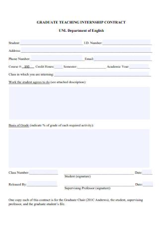 Graduate Teaching Internship Agreement