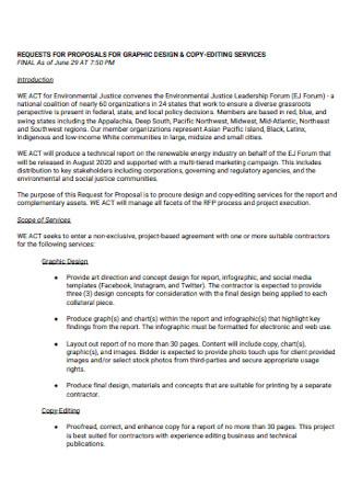 Graphic Design Copy Editing Proposal