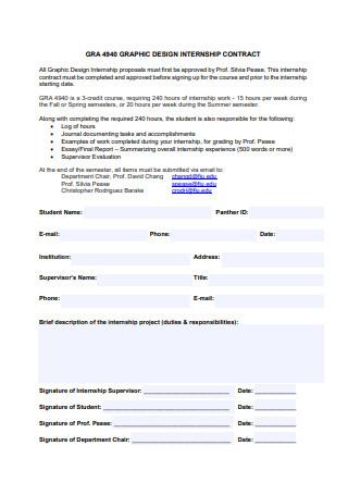 Graphic Design Internship Contract