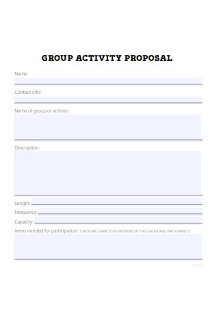 Group Activity Proposal