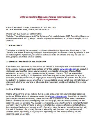 Group International Affiliate Agreement