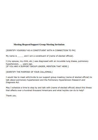 Group Meeting Invitation Request Email