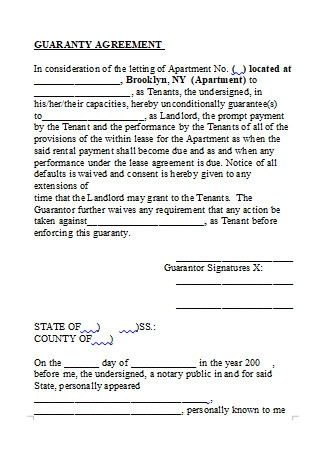 Guaranty Agreement in DOC