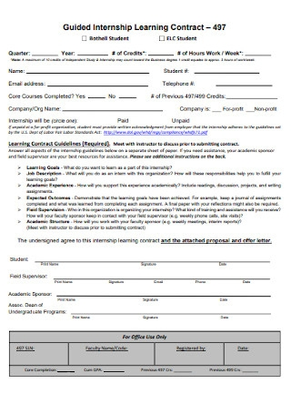 Guided Internship Learning Contract