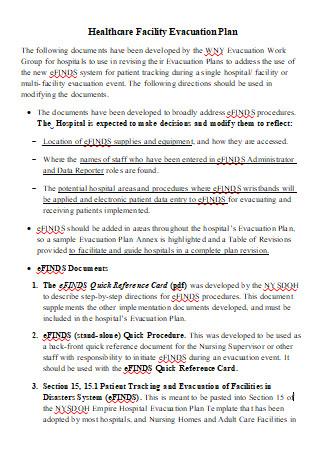 Healthcare Facility Evacuation Plan