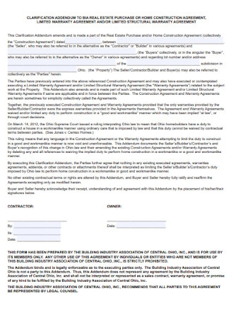 Home Construction Agreement