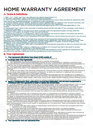 Home Warranty Agreement