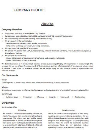 IT Company Profile