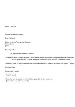 Immigration Services Letters