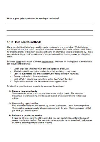 Indegenous Business Plan Workbook