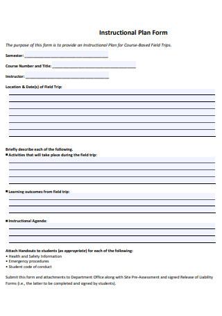 Instructional Plan Form
