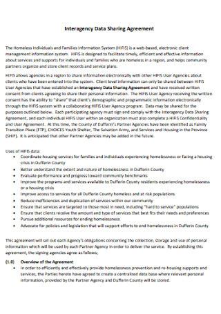 Interagency Data Sharing Agreement