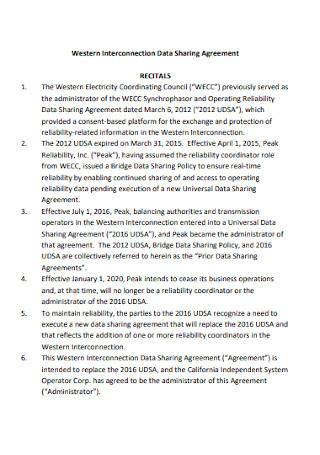 Interconnection Data Sharing Agreement