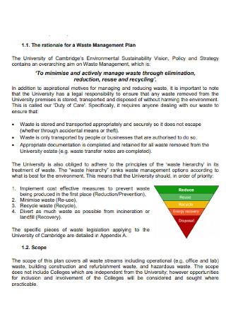 Interim Waste Management Plan