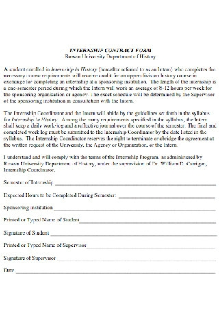 Intermship Contract Form